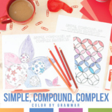 Color by Grammar: Simple, Compound, and Complex Sentences Coloring Sheets