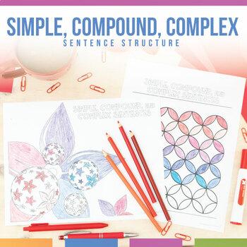 Simple, Compound, and Complex Sentences Coloring Sheet