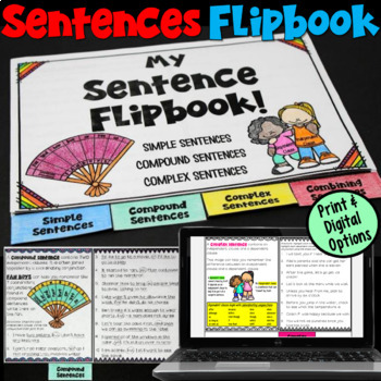 Simple, Compound, and Complex Sentences Flipbook