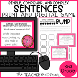 Simple, Compound, and Complex Sentences Game Print and Dig