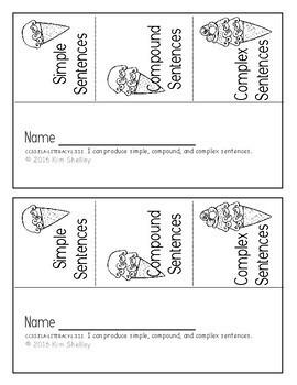 Simple, Compound and Complex Sentences-Interactive Foldable FlipBooks