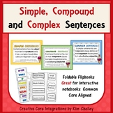 Simple, Compound and Complex Sentences-Interactive Foldabl