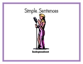 Simple, Compound, and Complex Sentences Posters