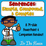 Simple, Compound, and Complex Sentences PowerPoint with Di