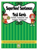 Simple, Compound, and Complex Sentences Task Cards (CC Aligned)