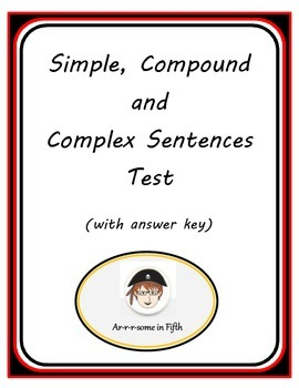 Simple, Compound and Complex Sentences Test