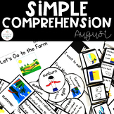 Simple Comprehension August: for Special Education