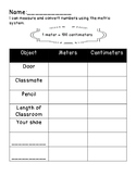 Simple Conversion of Metric System for Classroom