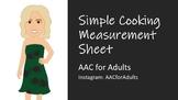 Simple Cooking Measurement Sheet