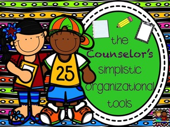 Simple Counselor Organizational Templates