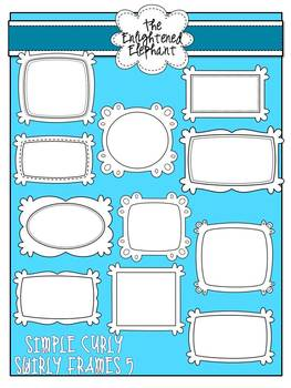 Simple Curly Swirly Frames 5 {Black and White}