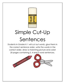 Simple Cut-Up Sentences