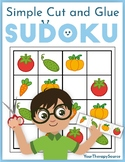 Simple Cut and Glue Sudoku Fine Motor and Logic Skills