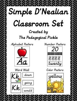 Simple D'Nealian Classroom Set Bundle