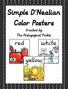Simple D'Nealian Color Posters