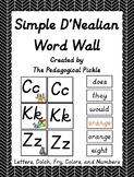 Simple D'Nealian Word Wall