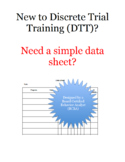 Simple DTT/DTI Data Sheet for ABA Therapy