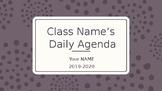 Simple Daily Agenda