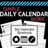 Simple Daily Calendar Work