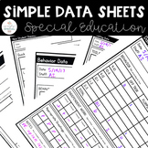 Simple Data Sheets for Special Education