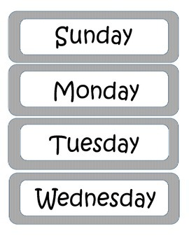 Simple Days of the Week