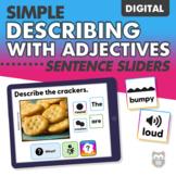 DIGITAL Simple Describing with Adjectives Sentence Sliders