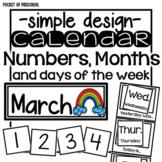 Simple Design Calendar Numbers