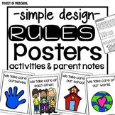 Simple Design Classroom Rules for Preschool, Pre-K, and Kindergarten