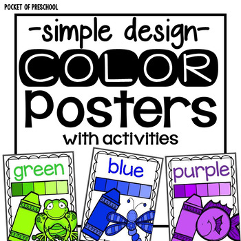 simple design color posters by pocket of preschool tpt