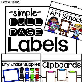 Simple Design Crate Classroom Labels