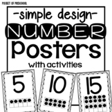 Simple Design Number Posters