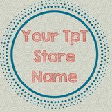 TpT Store Simple Design Sea Burst Logo, Banner and Label Bundle