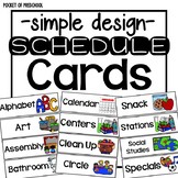 Simple Design Schedule Cards for Visual Schedules