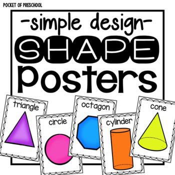 Simple Design Shape Posters