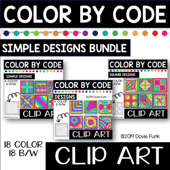 Simple Designs Color by Code Bundle