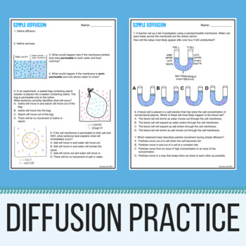 Simple Diffusion Practice Problems