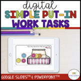 Simple Digital Work Boxes for Independent Work Systems Usi