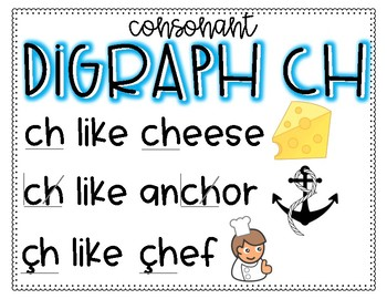 Simple Digraph Posters--Works with Saxon Phonics