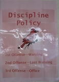 Simple Discipline Policy Poster