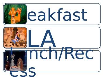Simple Disney Classroom Schedule