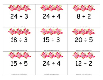 Simple Division Task Cards