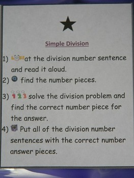 Simple Division-Teacher made math center-file folder game-learning activity