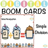 Simple Division with No Remainder - Boom Cards™ Distance Learning