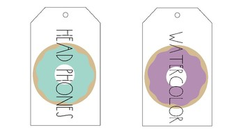 Simple Donut Supply Tags