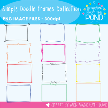Frames - Simple Doodle Frames Collection  - 192 Frames/Borders