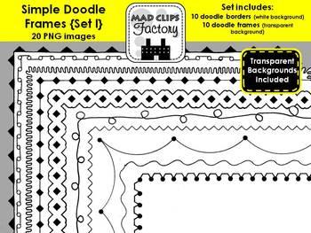 Simple Doodle Frames {Set I}