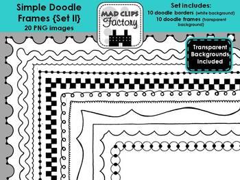 Simple Doodle Frames {Set II}