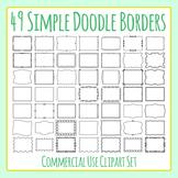 Simple Doodle Transparent Frames / Borders 49 Images Clip Art Commercial Use