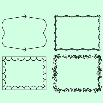 Simple Doodle Transparent Frames / Borders 49 Images Clip Art Commercial Use