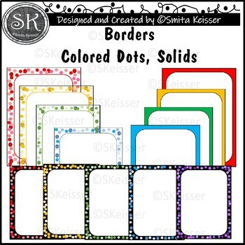 Simple Colored Dots, Solids background borders (Smita Keisser)